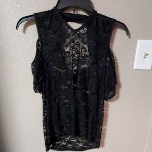 Lacey black cold shoulder